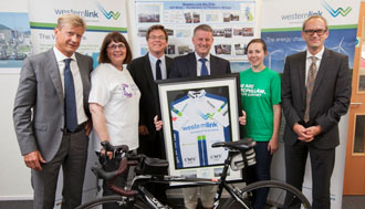 A ride bike along Western Link for charity