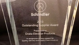 Schindler rewarded our customer care