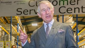Il Principe di Galles inaugura l'ampliamento di uno stabilimento