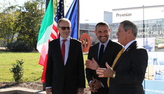 EU Ambassador David O'Sullivan visits Prysmian Group Lexington facility