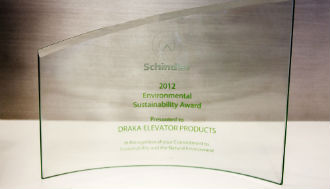 Outstanding Supplier Award by Schindler Elevator