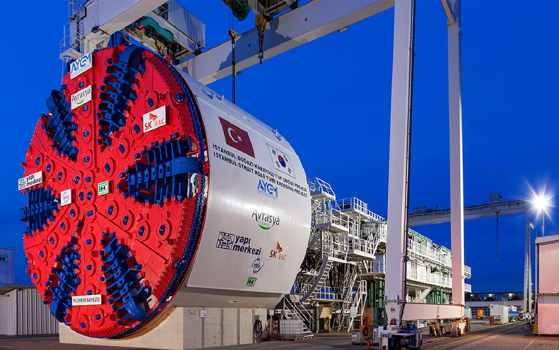 Prysmian cable for milestone Avrasya tunnel construction machine in Turkey