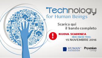 Technology for Human Beings – Scadenza del bando per tesi di laurea estesa