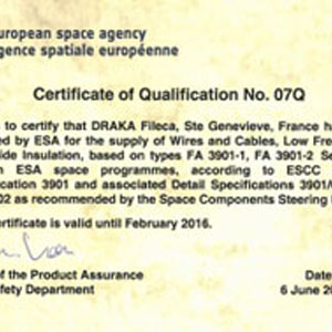 ESA renew its trust to DRAKA Fileca