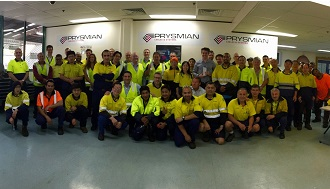 "Prysmian awarded Australian nbn's ""Supplier of the year"""