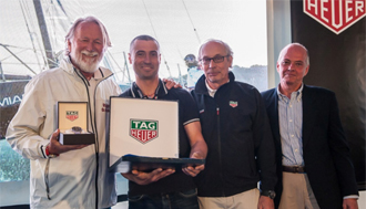 "Our skipper G. Pedote voted ""TAG HEUER Sailor of the Year 2016"""