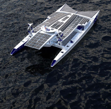 Sailing the sease of the world, green-powered