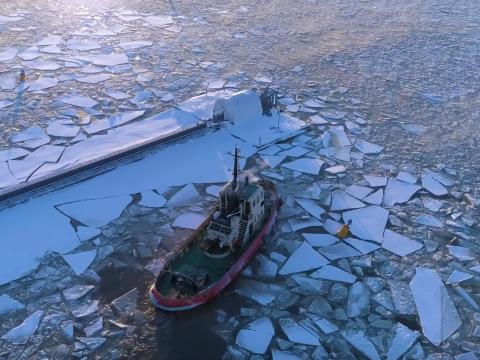 Prysmian's Ulisse on ice – Pikkala