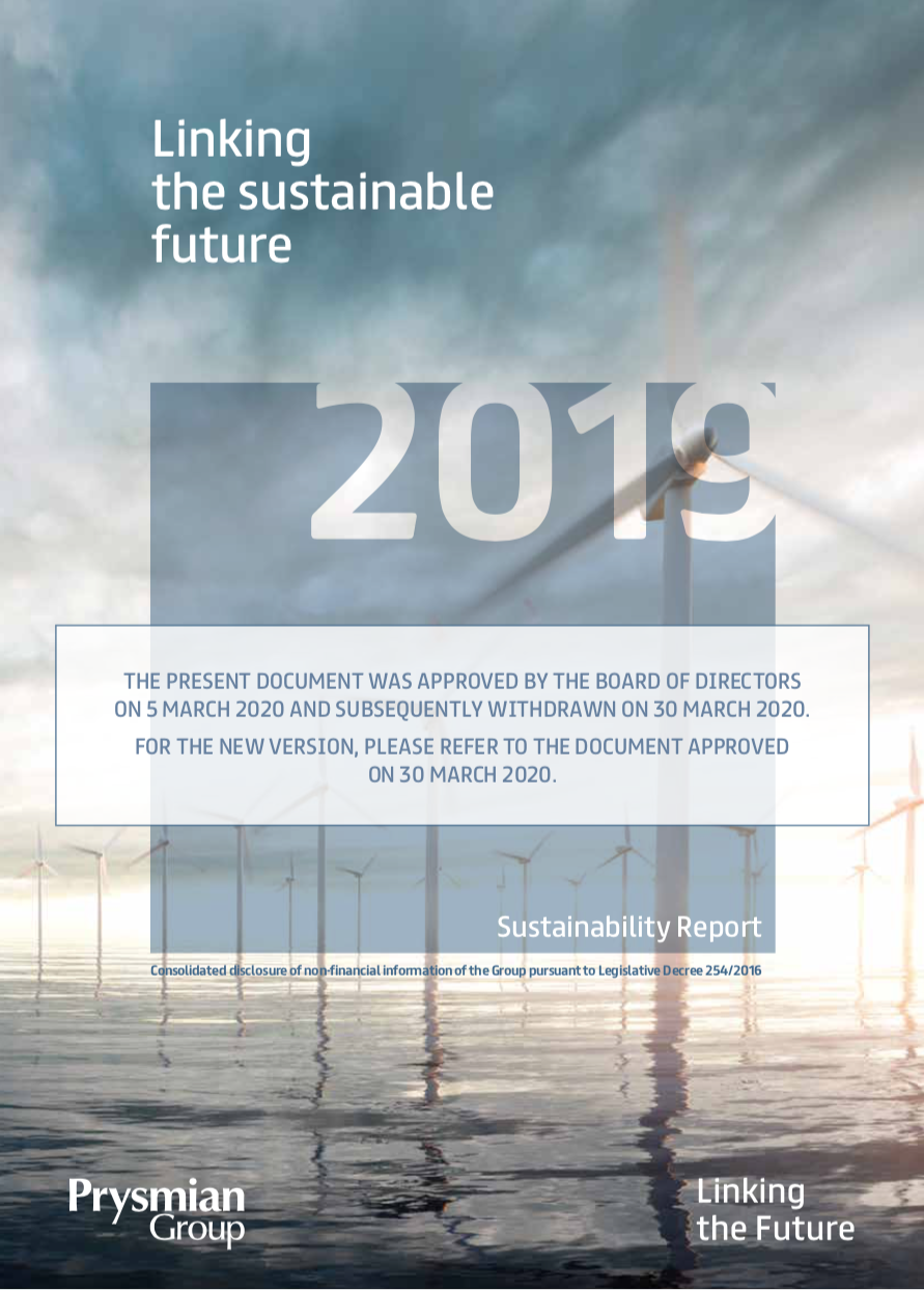 Sustainability report 2019 (withdrawn)