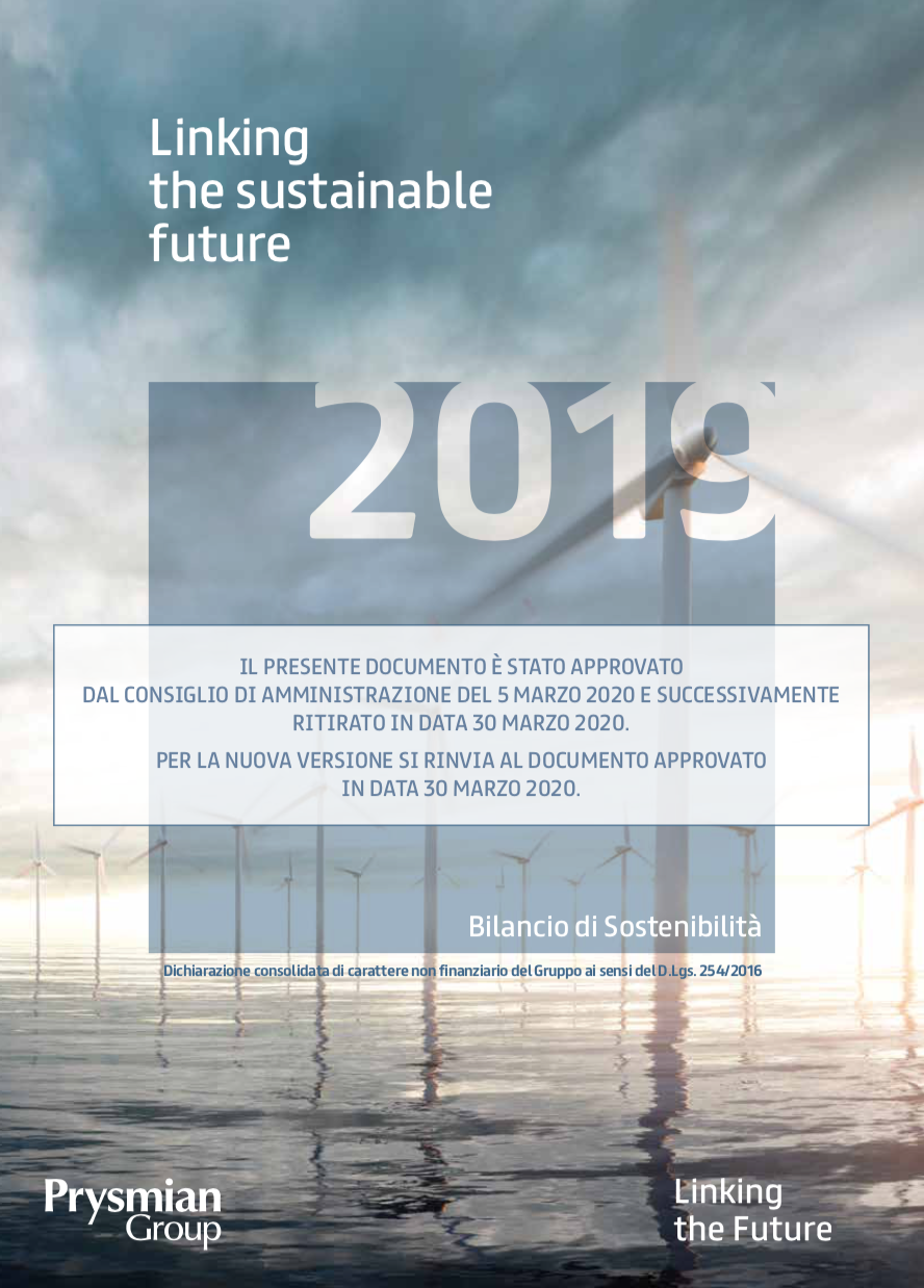 Bilancio di Sostenibilità 2019 (RITIRATO)