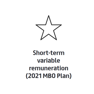 Short-term variable remuneration (2021 MBO Plan)
