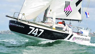 Prysmian and Pedote at the depart of the Lorient Bretagne Sud Mini
